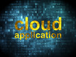 Cloud computing concept: Cloud Application on digital background