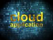 Cloud computing concept: Cloud Application on digital background