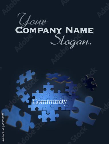 Community jigsaw puzzle
