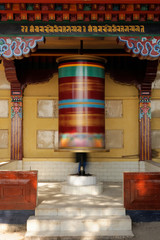 Buddhist prayer grinder, McLeod Ganj, India