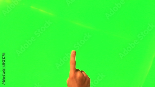 Touchscreen gestures - male hand - green screen and alpha matte