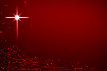Abstract Christmas Stars and Swirls Background