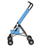 cartoon image of baby buggy