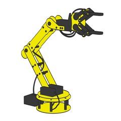 cartoon image of robotic arm