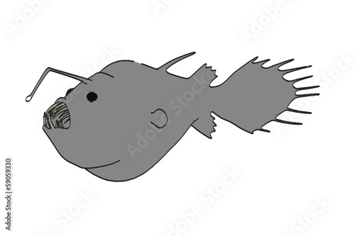 cartoon image of anglerfish