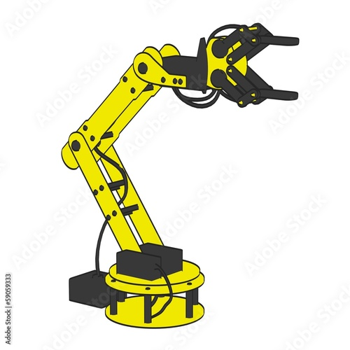 cartoon image of robotic arm