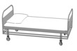 cartoon image of hospital bed