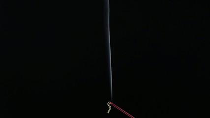 Abstract smoke on a black backgroun