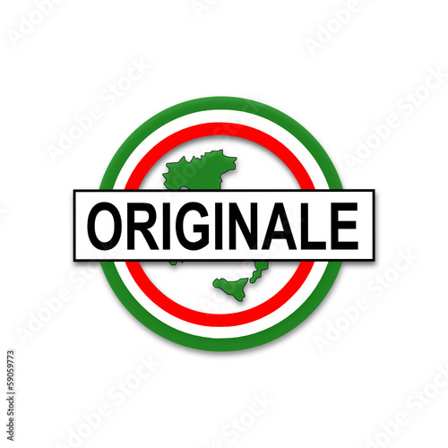 originale (italiano), bottone