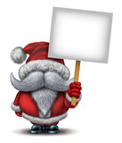 Santa Claus Holding A Sign