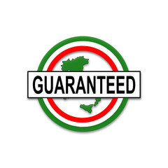guaranteed (italian), button