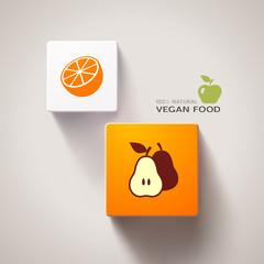 Vegan food concept. Eps10 vector