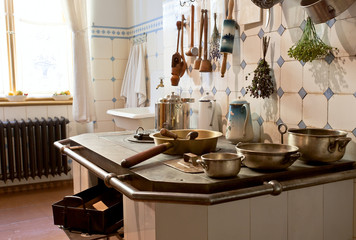 Kitchen of 19th century