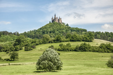 Hohenzollern Castle in Baden-Wurttemberg, Germany