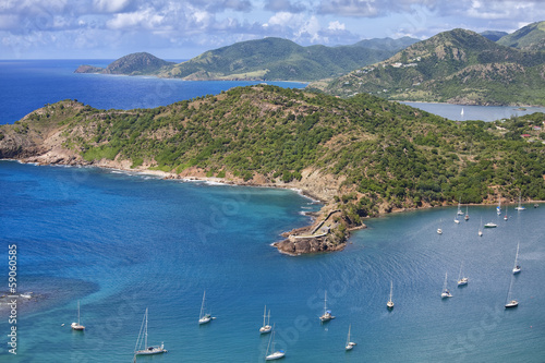 Antigua Shoreline View from Shirley Heights