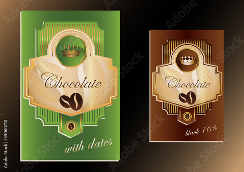 Vector chocolate label