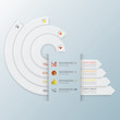 Modern Curve Circle Infographic Design Template