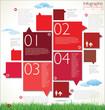 Modern red design template