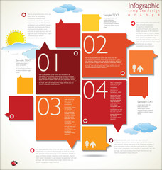 Modern orange design template