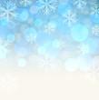 Blue snowy background.