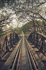 Bridge on the river Kwai, Kanchanaburi province,Thailand