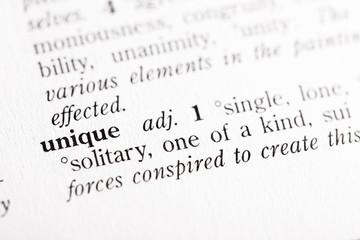 "Dictionary definition of ""Unique"""