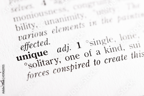 "Dictionary definition of ""Unique"""