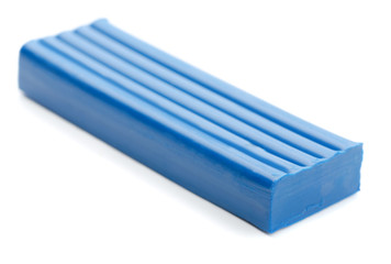 Blue bar of plasticine