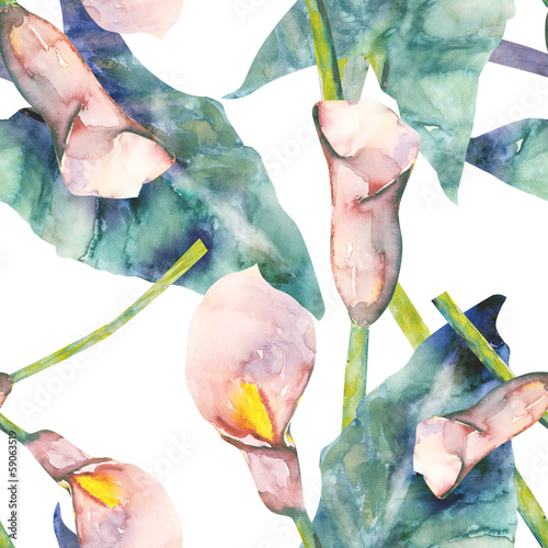 Callas Seamless Pattern - 59063519