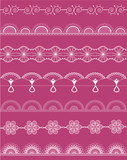 Vector white fine openwork lace kit