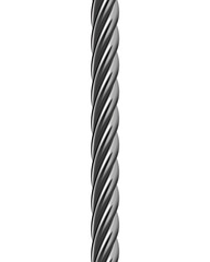 Metal cable isolated. Vector illustration