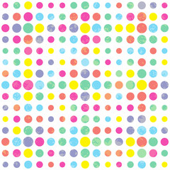 Abstract pattern with bright textured circles