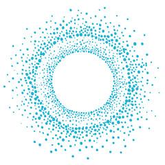 Dots round frame