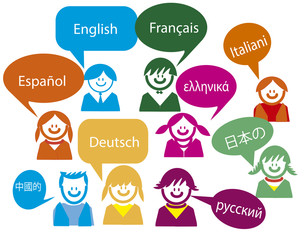 Children talk in very much Country languages, Spanish, French,