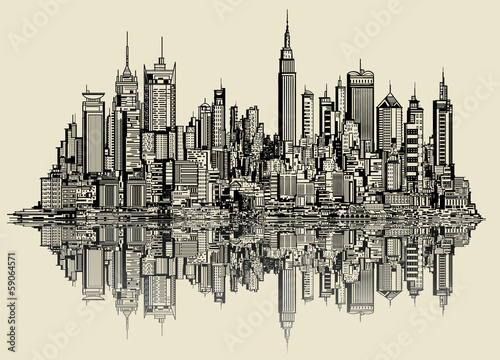sketch of new york
