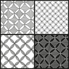 Set of abstract hand drawn patterns