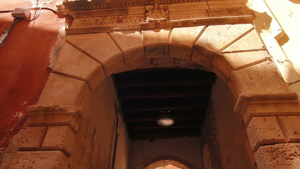 An ancient Roman arch in the old town