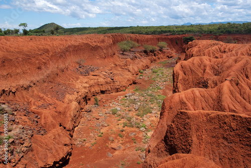 Landscape with Soil Erosion, Kenya