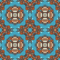 Ethnic tribal vector pattern ikat