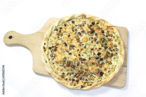 tarte flambée aux champignons