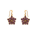 Earrings with gems isolated poster