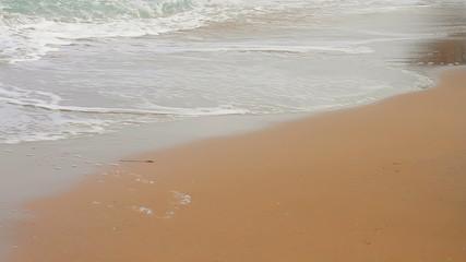 People walking barefoot on the beach