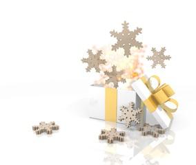 christmas present with snowflake icon