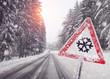 warnschild wegen dem Schneefall - 59066397