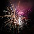 Spectacular fireworks against a black, night sky - 59066584