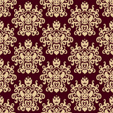 Damask vector background seamless pattern