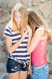 Young Girls Hug