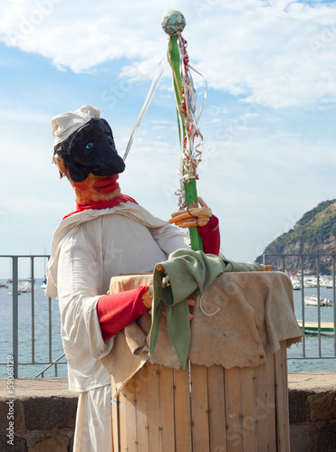 Pulcinella, typical Neapolitan folkloric personage