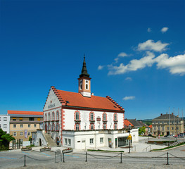 Main Square and Old Town Hall of Waidhofen an der Thaya, Austria