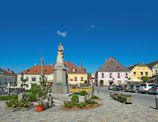 The old city Weitra, main Square, Waldviertel, Lower Austria